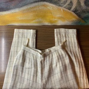 EMANUEL UNGARO Linen Pants Slacks (Lined)